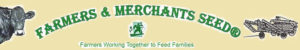 farmer with hay & seed sales busines logo